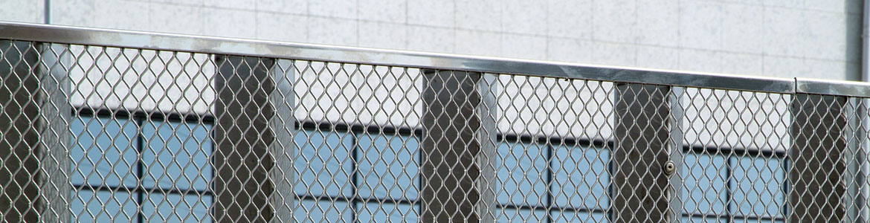Lamiera stirata a maglia quadra per protezione cancelli