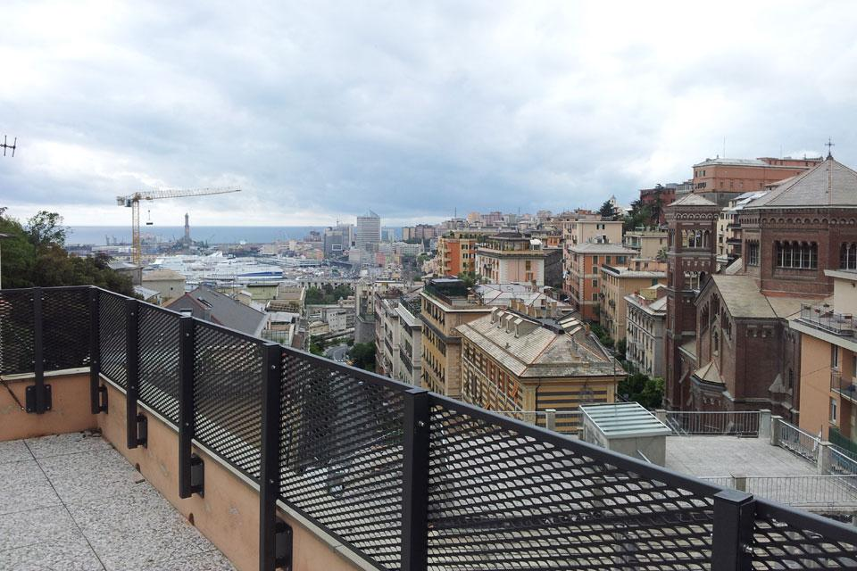 Parapetto per terrazza in Liguria
